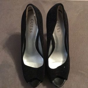 Guess Black Sparkle Stilletos